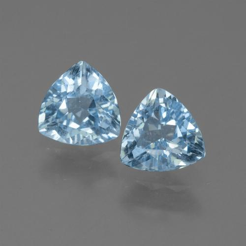 Sky Blue Topaz Gem - 1.3ct Trillion Facet (ID: 452607)