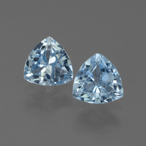 Sky Blue Topaz Gem - 1.5ct Trillion Facet (ID: 452608)