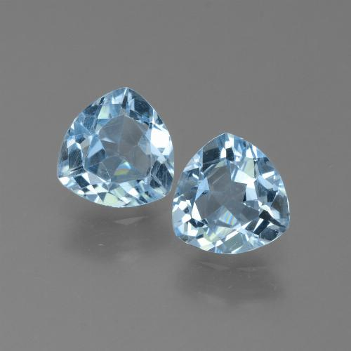 Sky Blue Topaz Gem - 1.2ct Trillion Facet (ID: 452609)