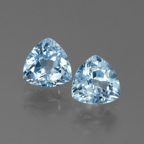 Sky Blue Topaz Gem - 1.5ct Trillion Facet (ID: 452611)