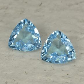 1.2ct Trillion Facet Sky Blue Topaz Gem (ID: 452623)