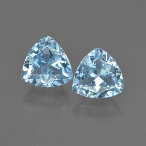 Sky Blue Topaz Gem - 1.4ct Trillion Facet (ID: 452626)