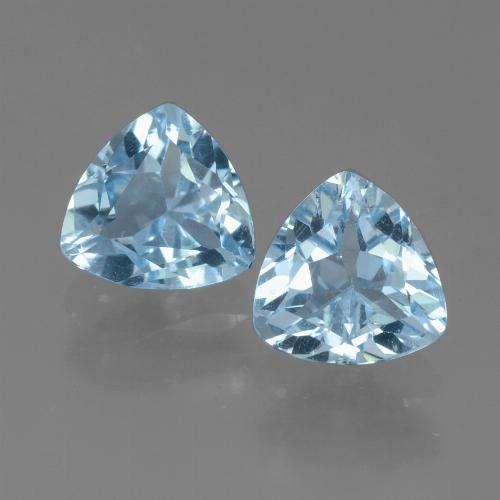 Light Blue Topaz Gem - 1.4ct Trillion Facet (ID: 452656)
