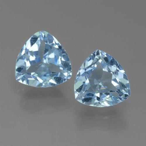 Sky Blue Topaz Gem - 1.5ct Trillion Facet (ID: 452659)