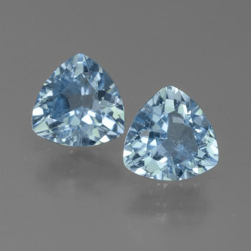 Sky Blue Topaz Gem - 1.2ct Trillion Facet (ID: 452661)