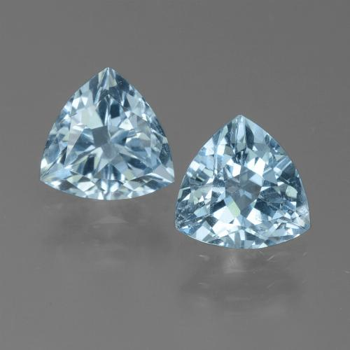 Light Blue Topaz Gem - 1.3ct Trillion Facet (ID: 452662)