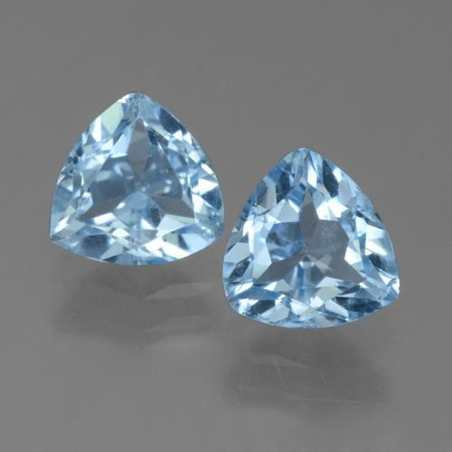 Sky Blue Topaz Gem - 1.4ct Trillion Facet (ID: 452691)