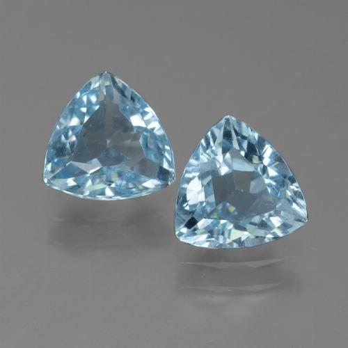 Sky Blue Topaz Gem - 1.2ct Trillion Facet (ID: 452697)