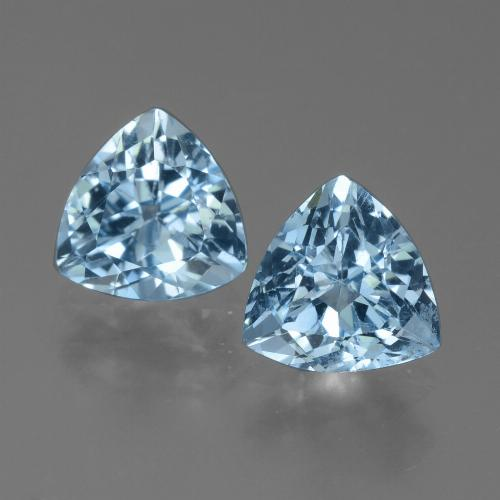 Sky Blue Topaz Gem - 1.4ct Trillion Facet (ID: 452701)