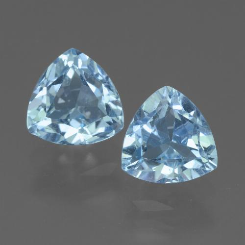 Light Blue Topaz Gem - 1.7ct Trillion Facet (ID: 452715)
