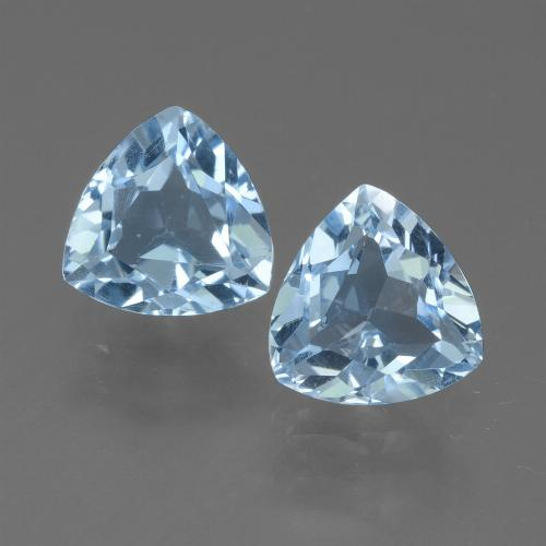 Sky Blue Topaz Gem - 1.4ct Trillion Facet (ID: 452718)