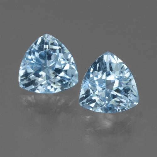 Sky Blue Topaz Gem - 1.4ct Trillion Facet (ID: 452719)
