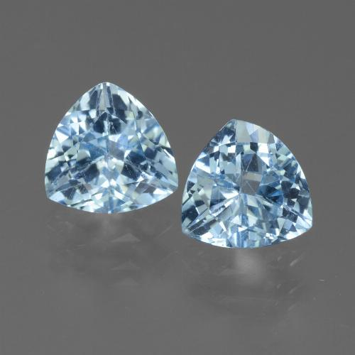 Sky Blue Topaz Gem - 1.3ct Trillion Facet (ID: 452720)