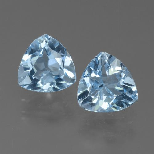 Sky Blue Topaz Gem - 1.4ct Trillion Facet (ID: 452721)
