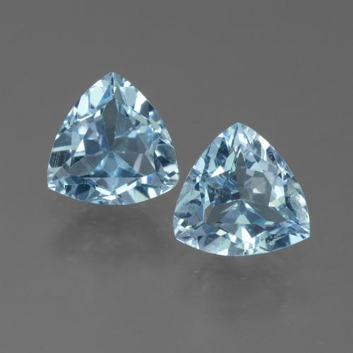 Sky Blue Topaz Gem - 1.1ct Trillion Facet (ID: 452722)