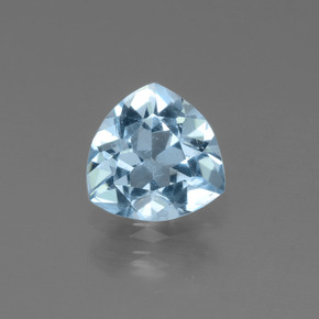 1.1ct Trillion Facet Sky Blue Topaz Gem (ID: 452743)