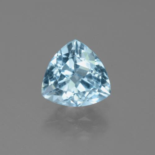 Sky Blue Topaz Gem - 1.3ct Trillion Facet (ID: 452750)