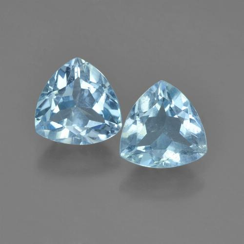 Sky Blue Topaz Gem - 1.4ct Trillion Facet (ID: 452753)