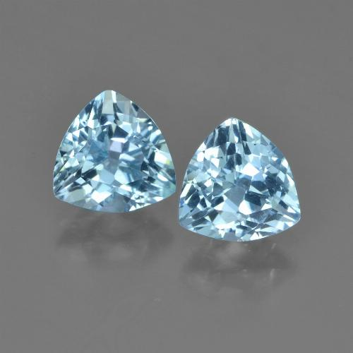 Sky Blue Topaz Gem - 1.3ct Trillion Facet (ID: 452758)