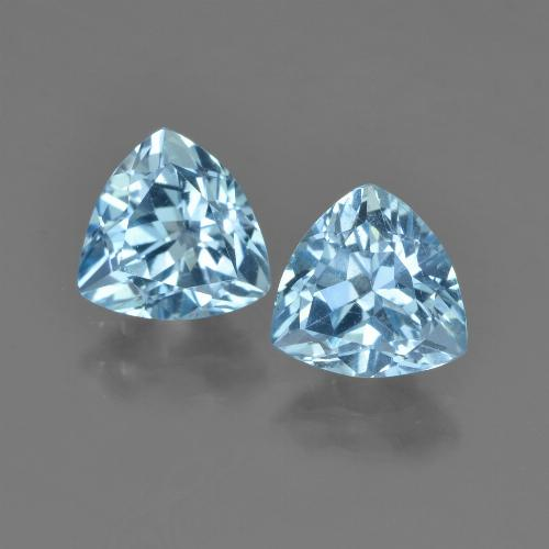 Sky Blue Topaz Gem - 1.4ct Trillion Facet (ID: 452759)