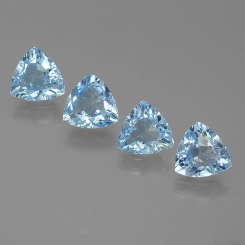 Sky Blue Topaz Gem - 1.1ct Trillion Facet (ID: 452811)