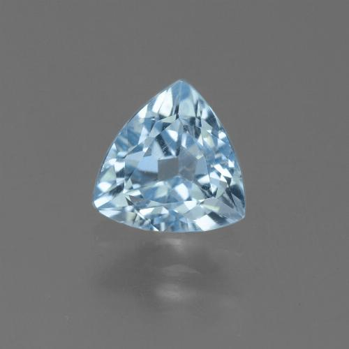Sky Blue Topaz Gem - 1.3ct Trillion Facet (ID: 452897)