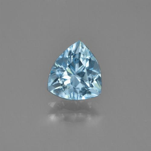 Sky Blue Topaz Gem - 1.1ct Trillion Facet (ID: 452943)
