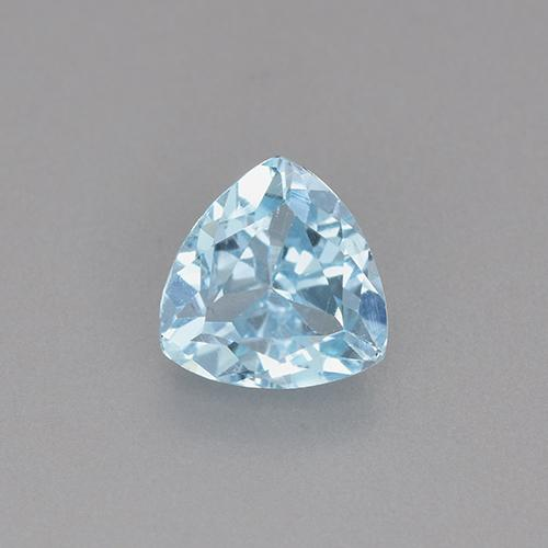 Swiss Blue Topaz Gem - 1.5ct Trillion Facet (ID: 452944)