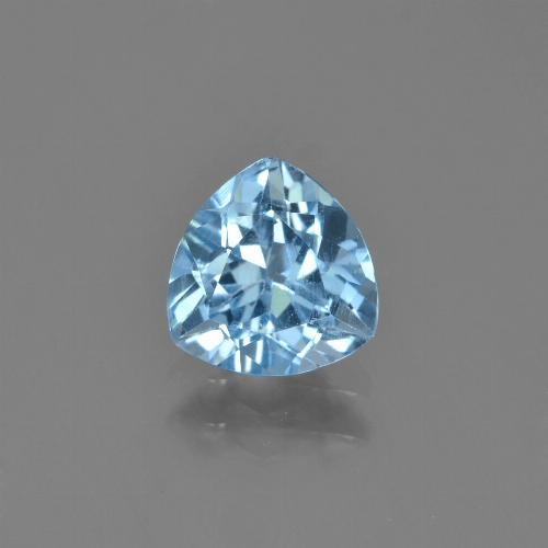 Sky Blue Topaz Gem - 1.4ct Trillion Facet (ID: 452952)