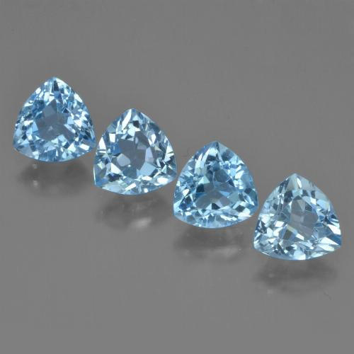 Sky Blue Topaz Gem - 1.3ct Trillion Facet (ID: 452976)