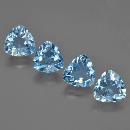 1.4ct Trillion Facet Sky Blue Topaz Gem (ID: 452978)