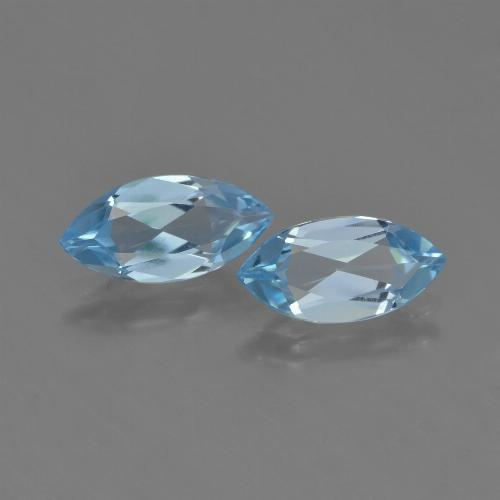 Sky Blue Topaz Gem - 1.1ct Marquise Facet (ID: 453952)