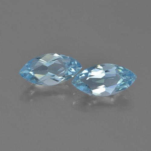 Sky Blue Topaz Gem - 1.2ct Marquise Facet (ID: 453953)