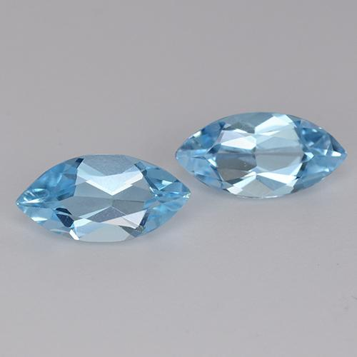 Sky Blue Topaz Gem - 1.2ct Marquise Facet (ID: 453954)