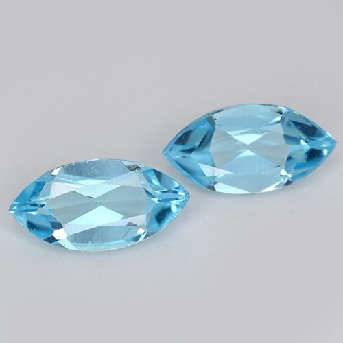 Swiss Blue Topaz Gem - 1.1ct Marquise Facet (ID: 453955)