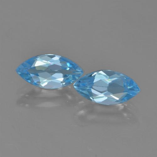 Sky Blue Topaz Gem - 1.3ct Marquise Facet (ID: 453960)