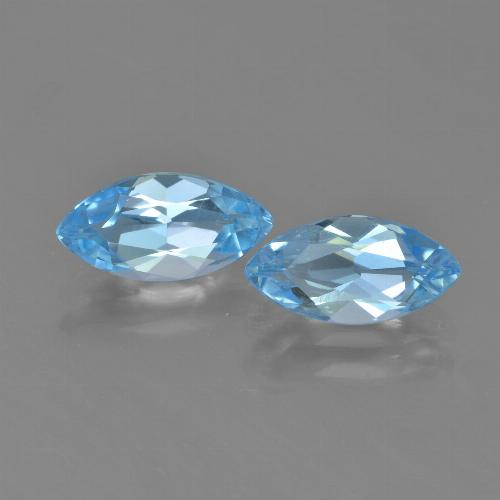 Baby Blue Topaz Gem - 1.3ct Marquise Facet (ID: 453961)
