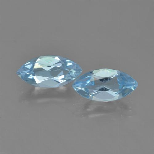 Light Blue Topaz Gem - 1.2ct Marquise Facet (ID: 453962)