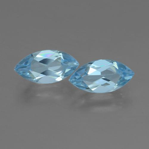 Swiss Blue Topaz Gem - 1.2ct Marquise Facet (ID: 453975)