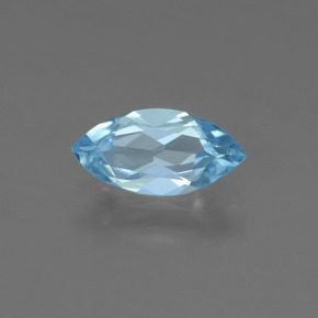 Sky Blue Topaz Gem - 1.2ct Marquise Facet (ID: 453976)