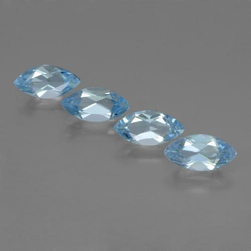 Sky Blue Topaz Gem - 1.3ct Marquise Facet (ID: 453978)