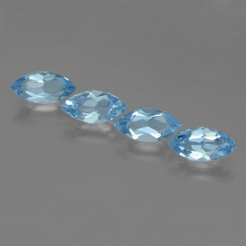 Sky Blue Topaz Gem - 1.1ct Marquise Facet (ID: 453979)