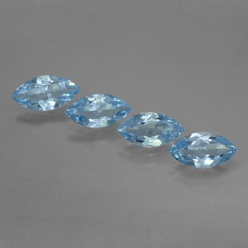 Sky Blue Topaz Gem - 1.1ct Marquise Facet (ID: 453983)