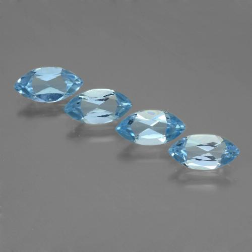 Sky Blue Topaz Gem - 1.3ct Marquise Facet (ID: 453984)