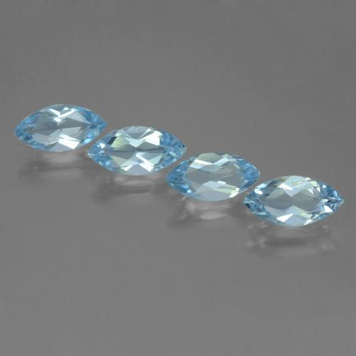 Sky Blue Topaz Gem - 1.2ct Marquise Facet (ID: 453986)