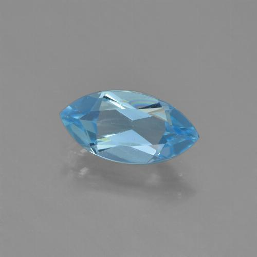 Sky Blue Topaz Gem - 1.3ct Marquise Facet (ID: 453990)
