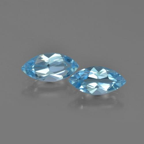 Sky Blue Topaz Gem - 1.2ct Marquise Facet (ID: 454047)