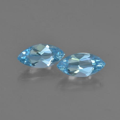 Sky Blue Topaz Gem - 1.2ct Marquise Facet (ID: 454048)