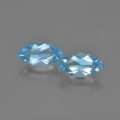 Sky Blue Topaz Gem - 1.2ct Marquise Facet (ID: 454051)