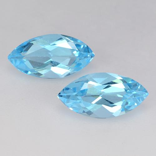 Cyan Blue Topaz Gem - 1.2ct Marquise Facet (ID: 454052)